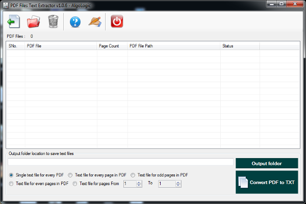 Click to view PDF Files Text Extractor screenshots