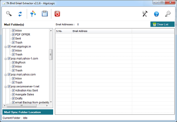 Th Bird Email Extractor full screenshot