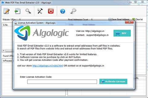 Extract Email Addresses from websites PDF file - AlgoLogic